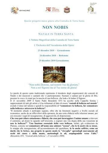 NON NOBIS - ATS pro Terra Sancta