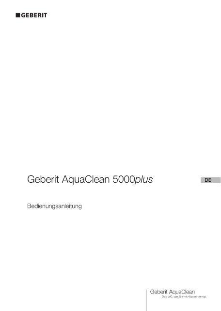 Bedienungsanleitung - Geberit AquaClean