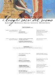 GIUGNO 2013 NOVEMBRE 2012 - I Luoghi Sacri del Suono