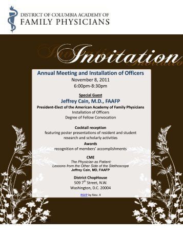 Annual Meeting and Installation of Officers - District of Columbia ...