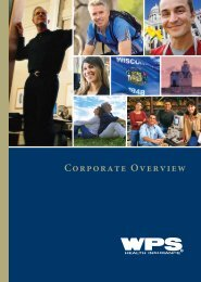 View the WPS Corporate brochure - Arise Health Plan
