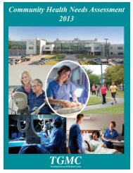2013 Community Health Needs Assessment Report - Terrebonne ...
