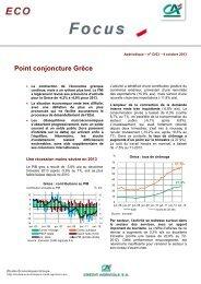 Point conjoncture Grèce - Etudes économiques du Crédit Agricole
