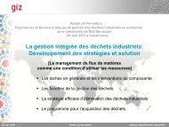 La gestion intégrée des déchets industriels ... - GD MAROC