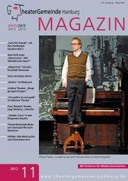 MAGAZIN - bei der TheaterGemeinde Hamburg