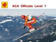 ACA Officials Level I - Alpine Canada