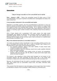 Calyon brings innovation to the convertible bond ... - Le Crédit Agricole