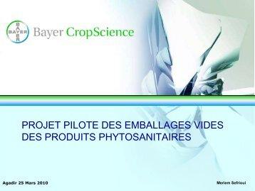 Présentation Bayer CropScience, société de produits ... - GD MAROC