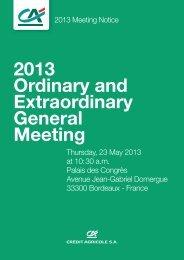 Meeting notice (pdf - 1.35 Mo) - Le Crédit Agricole
