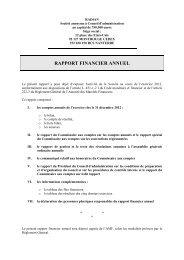 RAPPORT FINANCIER ANNUEL - Le Crédit Agricole
