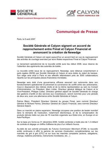 Download the press release (pdf - 46.46 kB) - Le Crédit Agricole