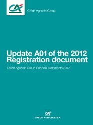 Update A01 of the 2012 Registration document - Le Crédit Agricole