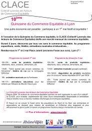 Quinzaine du Commerce Equitable à Lyon - Rhone Solidaires