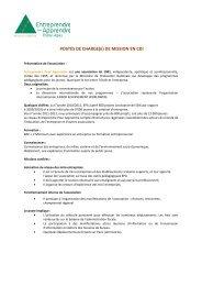 PROFIL DE POSTE chargé de ... - Rhone Solidaires