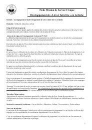 Mission Volontariat SC - FOL Ardèche - Rhône-Alpes Solidaires