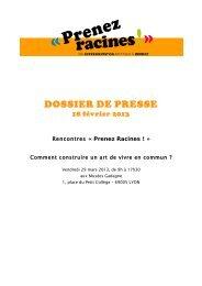 DOSSIER DE PRESSE - Rhone Solidaires