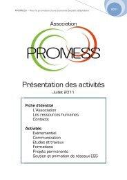 PROMESS – Pour la promotion d'une Economie ... - Rhone Solidaires