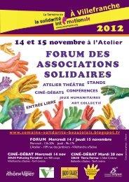 FORUM DES ASSOCIATIONS SOLIDAIRES - Rhône-Alpes Solidaires