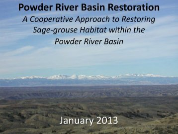Powder River Basin Restoration A Cooperative Approach to ...