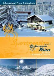 Downlad Folder Sportpension Reiter 2011/2012 - Planneralm