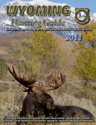 Hunting Guide 2011 - Wyoming Game & Fish Department