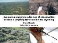 Evaluating statewide outcomes of conservation actions & targeting ...