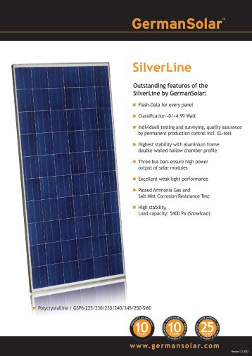 SilverLine - eborx solar systems