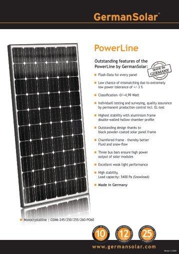 PowerLine - eborx solar systems