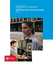 INFORMATION TECHNOLOGIES 2012 - School of Information ...