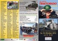 So.14. Oktober 2012 von 10 - 18 Uhr - Traktorado Messe