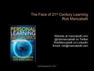 The Face of 21st Century Learning Rob Mancabelli - Independent ...