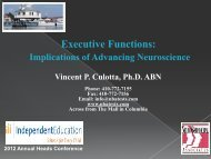Executive Functions: - Independent Education