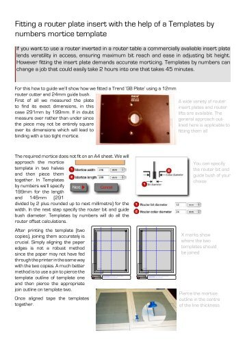 6 step router plate installation shopnotes fitting a router plate insert with the help of a templates by numbers keyboard keysfo Images