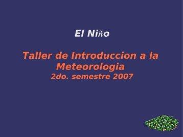 El Niño Taller de Introduccion a la Meteorologia