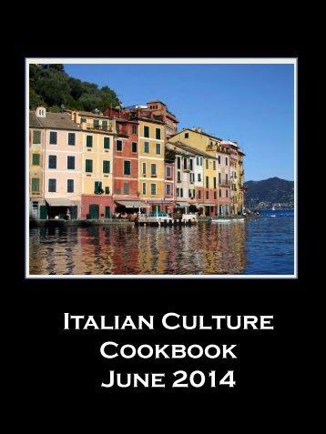 AP Italian Culture Cookbook June 2014