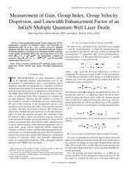 Measurement of Gain, Group Index, Group Velocity Dispersion, and ...