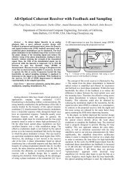 All-Optical Coherent Receiver with Feedback and Sampling - Silicon ...