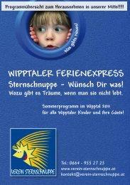 Wipptaler Ferienexpress Das komplette ... - Verein Sternschnuppe