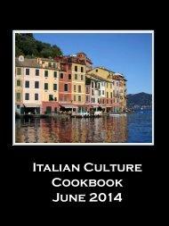 U2 Italian Culture Cookbook June 2014