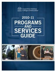 Download Guide [PDF] - Council for Christian Colleges & Universities