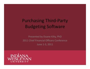 Purchasing Third-Party Budgeting Software