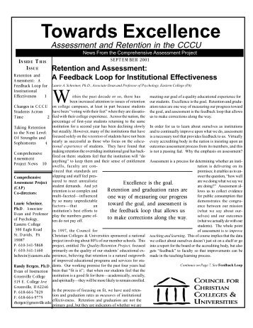 September 2001 - Council for Christian Colleges & Universities