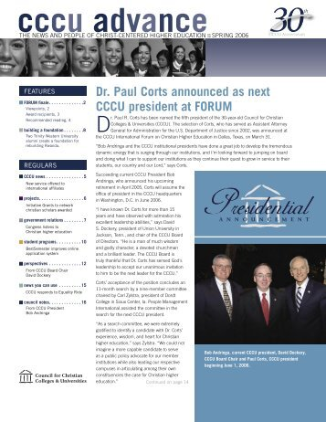 Spring - Council for Christian Colleges & Universities