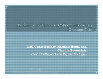 Role of the Christian College in Creation Care v5 - Council for ...