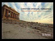 Christian Spiritual Formation (CMD) - Council for Christian Colleges ...