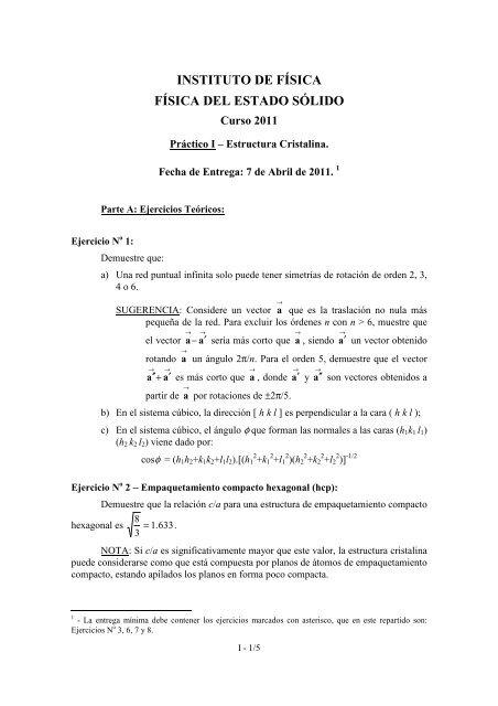 Practico I Estructura Cristalina 2011 Con Evjen Fãsica