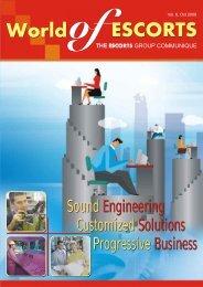 Vol. 6, October 2008 - Escorts Group