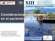 Consideraciones nutricionales en el paciente con DM 2 - Scmgg.com