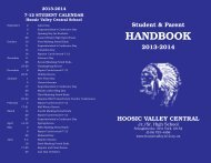 Student Handbook - Hoosic Valley Central School