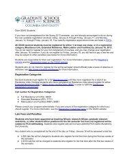 Spring 2013 Registration - Doctoral Students - Graduate School of ...